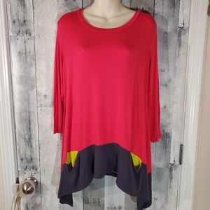 Logo contrast pocket tunic top large 12/14